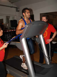 Nik Kandola racing vrs the Royal Marines, The Royal Marines won by 4 seconds on the Bench Press. What a race!
